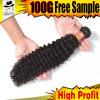 9 de alta qualidade de uma onda de cabelos crespos brasileiro, 100%de cabelo humano