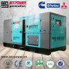 60 Hz 440 V châssis silencieux Water-Cooled 125kVA générateur portatif avec ATS