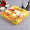 Boîte blanche à pizza de papier de carte d'impression colorée