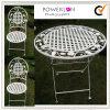 옥외 폴딩 고전적인 백색 합금 테이블 의자