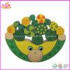 カエルの形の木の子供のバランスのブロックのゲーム(W11F010)