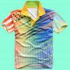 Coton/polyester de mode Nice All Over la chemise de polo estampée (P058)
