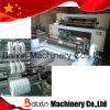 Plástico máquina rebobinadora cortadora longitudinal