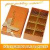 Empaquetado de encargo de los rectángulos de regalo del papel de la fresa del chocolate