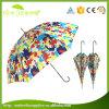 Heißer verkaufenkundenspezifischer Firmenzeichen-Drucken-mehrfarbiger Patio-Sonnenschirm-gerader Regenschirm