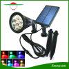 분리된 위원회 및 빛을%s 가진 태양 반점 빛을 바꾸는 옥외 장식적인 점화 7 LED 색깔