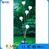 Cinco flores plásticas con la iluminación del panel solar amarilla de 5 PCS LED