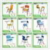 책상을%s 가진 목제 학교 의자