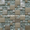 Mattonelle di mosaico di vetro del metallo dell'acciaio inossidabile della miscela (SM208)