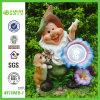 Doggie (NF11069-1)를 가진 격언 Figurine Lawn 정원 Light