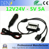 12V 24V a 5V 5A 25W DC USB Convertidor DC
