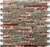 Populäres konzipiertes unregelmäßiges Mischungs-Stock-Glas und Stein-Mosaik-Fliese