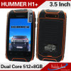 Smartphone déverrouillé en attente duel de carte SIM duelle de l'androïde 4.2.2 de dual core du Hummer H1+