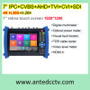 Melhor 7 polegadas 4k H. 265 H. 264 PRO Ipc CCTV Monitor de teste 1920 * 1200 + HDMI com o multímetro digital Ahd Tvi Cvi Sdi Tdr