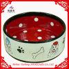 Bacia cerâmica vitrificada do animal de estimação