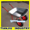 Galvanized TrayのヨーロッパのModel Wheel Barrow Wb6410