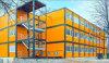 Casa prefabricada de acero del campo de trabajos forzados del panel de emparedado de Framerockwool de la buena calidad