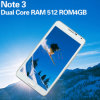 Phone Mt6572 1.2GHz Dual Core RAM 512MB ROM 4GB 5.5 Inch 3G Cheap Android Mobile Phones를 주의하십시오