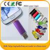 Mecanismo impulsor móvil de la pluma del USB del mecanismo impulsor del flash del USB del eslabón giratorio plástico