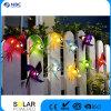 Lantaarn van Kerstmis van het Koord van de stof en van het Plastic Materiaal de Zonne