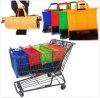 1 carrello riutilizzabile di acquisto del carrello della drogheria dei sacchetti dell'insieme 4 insacca il sacchetto di elemento portante di acquisto