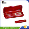 Boîte à stylo en bois avec 3 stylos