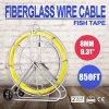 extrator novo de Rod Fishtape do cabo de fio da fibra de vidro da fita de 8mm x 850 ' peixes de Rodder do duto