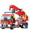 1488053 높은 질 화재 싸움 트럭 빌딩 블록 도시 화재 교육 벽돌 장난감 기관병 DIY 벽돌 Brinquedo 크리스마스 선물
