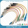 Cavo di zona del cavo ottico della fibra con il connettore di Sc/FC/LC/St/MTRJ