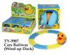 Lustiges Cars Railway Wind herauf Duck Toy