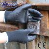 Ладони PU нейлона Nmsafety перчатки черной Coated