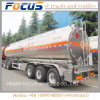 Tri-Axle 45000 litres réservoir de carburant en aluminium fabriqué en Chine de remorque