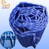 Chaîne de convoyeur de Porter-Résistance de plat de résistance d'alcali de POM de plat en plastique bleu de chaîne de convoyeur et d'usine chimique de Guanping d'arrêt haute