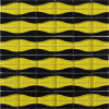 Il nero e Yellow Crystal Glass Mosaic Designs