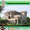 Preiswertes Luxuxfertigkleber-Haus-Licht-Stahlkonstruktion Prefabricada Landhaus