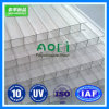Virgin 100% Ten Years Guarteen Polycarbonate 10mm Two Wall X-Type Sheet para Project