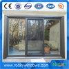 Schwarze Farben-schiebendes Aluminiumfenster mit Moskito-Netz