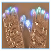 Guantes de los cequis del funcionamiento del baile del LED que contellean