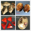 Muito Sizes para Oval Crystal Flat Back Rhinestone