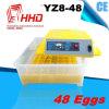 Автоматические малые яичка владением 48 инкубаторов цыпленка для сбывания