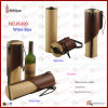 Классицистический одиночный держатель вина кожи Faux бутылки (5490)