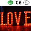 Segno fronte della lettera della lampadina del ferro di Lit di alta qualità LED