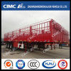 H70 High Tensile Steel Stake Semi Trailer com Horizontal Roof Rail