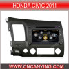 Автомобиль DVD на Honda Civic 2011 с интернетом Dual Core 1080P V-20 Disc WiFi 3G набора микросхем A8 (CY-C044)