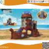 海賊船の球のプールを持つ子供のためのプラスチック運動場装置