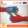 Jauge 13 Shell en nylon rouge gris gant enduit à base de nitrile Dnn342