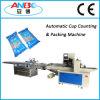 Máquina plástica automática da contagem e de embalagem da bacia