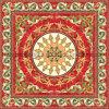 Los musulmanes el patrón de la alfombra roja de baldosas diseño