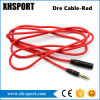 Cable aux. de los accesorios del teléfono móvil de la cuerda para los golpes hembra-varón