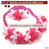 Flor de poliéster Pulsera Brazalete Pulsera de conjuntos de joyería de moda (P3089)